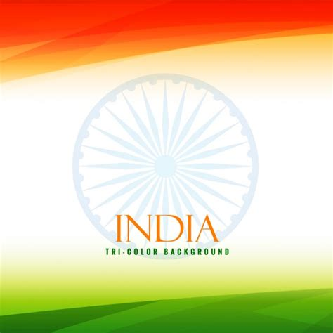 tri color indian flag tricolor background vector free