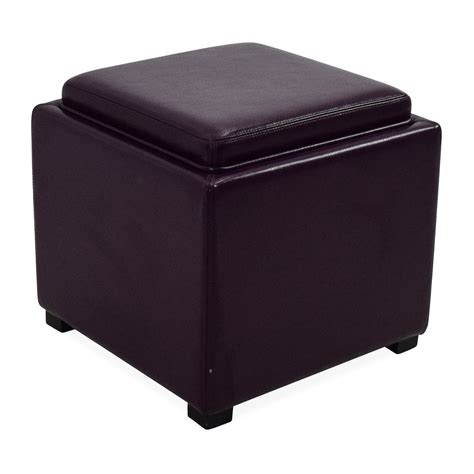 crate and barrel ottoman 73 off crate and barrel crate barrel leather storage