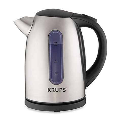 bed bath and beyond kettle krups 174 6 cup stainless steel electric hot water kettle