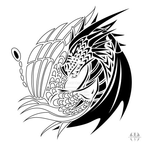 tribal tattoo yin yin yang images designs