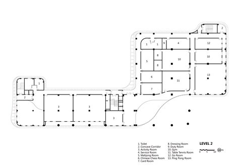 Facility Layout En Español | gallery of senior center of guangxi atelier alter 31