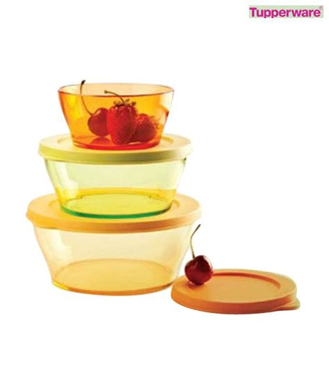Tupperware Clear Bowl Set 2 tupperware clear bowl set 3 pcs buy at best price in india snapdeal