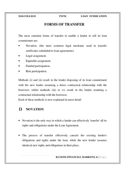 Mortgage Commitment Letter Canada Syndicated Loan Agreement Template 28 Images Canada Mortgage Backing Loan Agreement