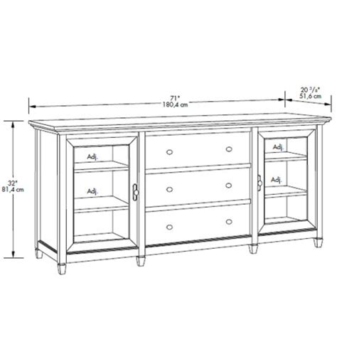 credenza height sauder edge water credenza 415321 free shipping