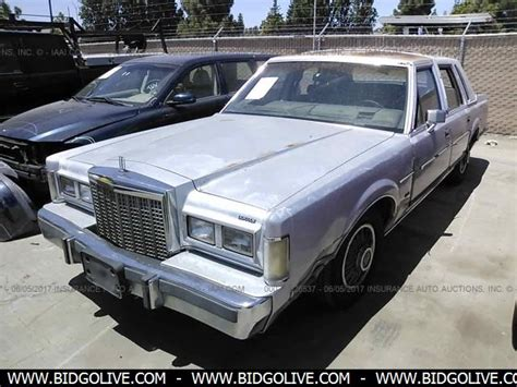 lincoln car auction used 1985 lincoln town car car from iaa auto auction