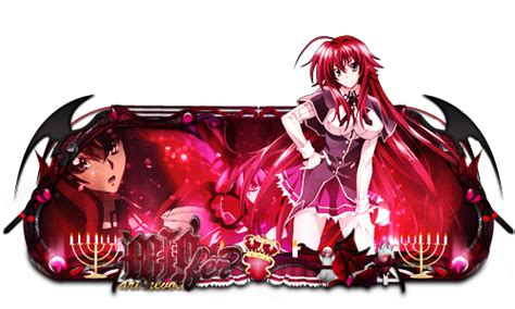psp themes highschool dxd rias gremory highschool dxd to migfer by zeusds on deviantart