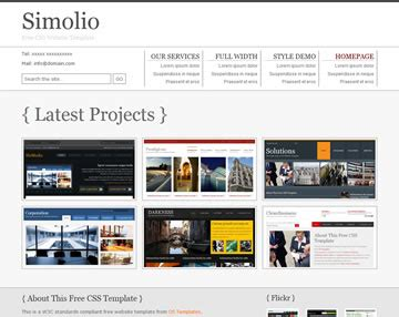 simolio website template free website templates os