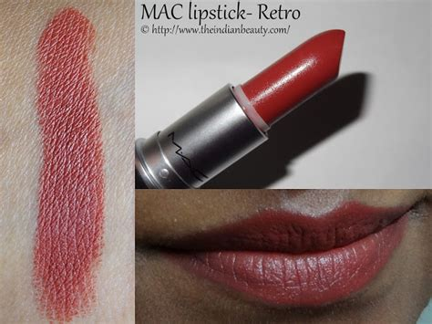 mac retro lipstick review and swatches indian makeup and 5 mac lipsticks swatches and my recommendations for dusky