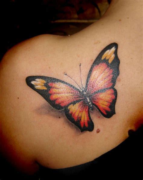 imagenes mariposas tattoos tatuajes con mariposas de colores para las mujeres