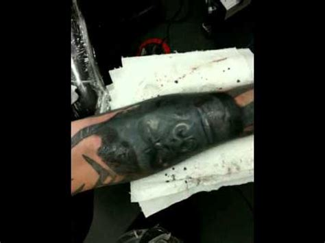 tattoo cover up video youtube tattoo cover up gorillas over tribal sleeve youtube