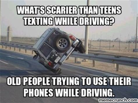 Texting While Driving Meme - old people texting while driving