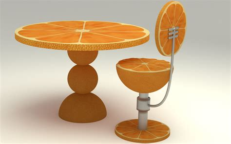 orange kitchen table orange kitchen table 3d model max obj fbx c4d ma mb blend