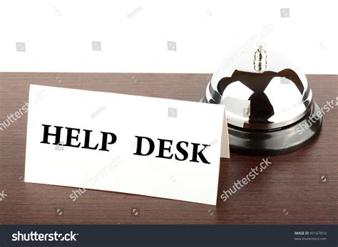 Help Desk Sign by Service Bell Help Desk Sign Hotel Stock Photo 95167810