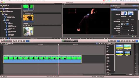 final cut pro chroma key final cut pro x effects tutorial green screen chroma