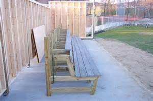 dugout bench plans baseball bench blueprints images