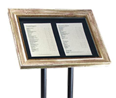 cornice per menu portamenu elegante per ristorante elbaworld grafica