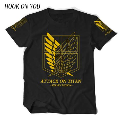 Tshirt No C3 japanese anime attack on titan t shirt costume