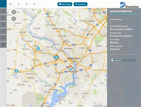 power outages map dominion completes power outage map for customers
