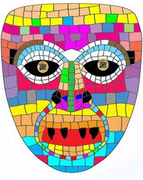 aztec mask template mosaics masks and aztec on