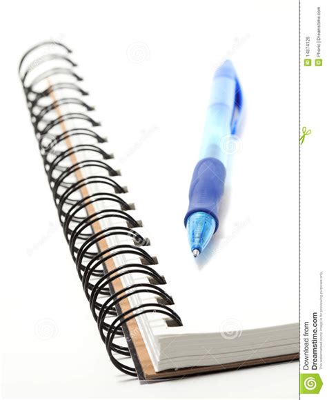 sketchbook and pen spiral sketchbook with a pen on top royalty free stock