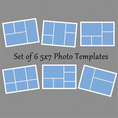 15 Simple Collage Template Psd Images Collage Templates Free Photoshop Collage Template And 8x10 Photoshop Template