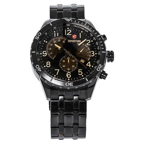 Harga Merk Jam Tangan Expedition jual jam tangan expedition e6720 black