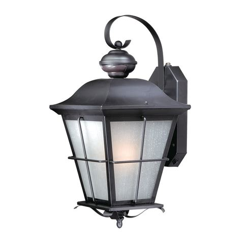 Outdoor Wall Lighting Motion Sensor Shop Cascadia Lighting New 18 75 In H Rubbed Bronze Motion Activated Outdoor Wall
