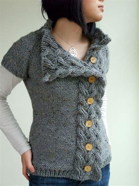 sweater pattern chunky yarn pattern rosamund s cardigan interweave knits fall 2009