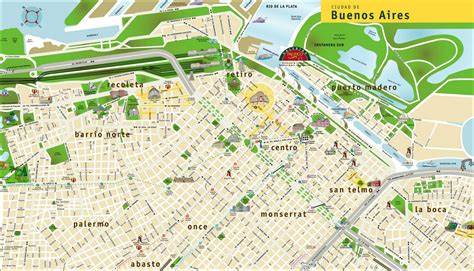 buenos aires map large detailed travel map of buenos aires city buenos aires city large detailed travel map
