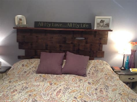 wall attached headboards wall mounted headboard of reclaimed wood master bedroom
