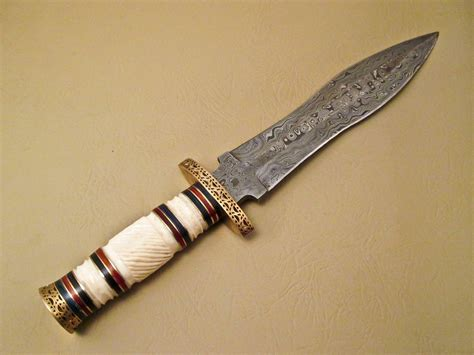 Handmade Knife - amazing damascus bowie knife custom handmade damascus
