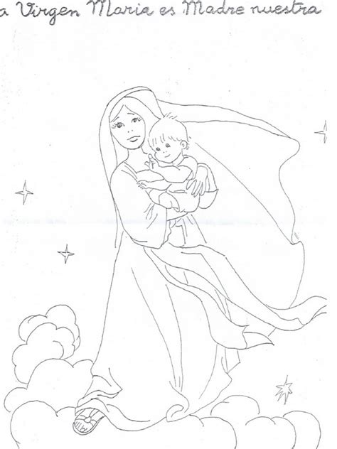 the blessed mother colouring pages