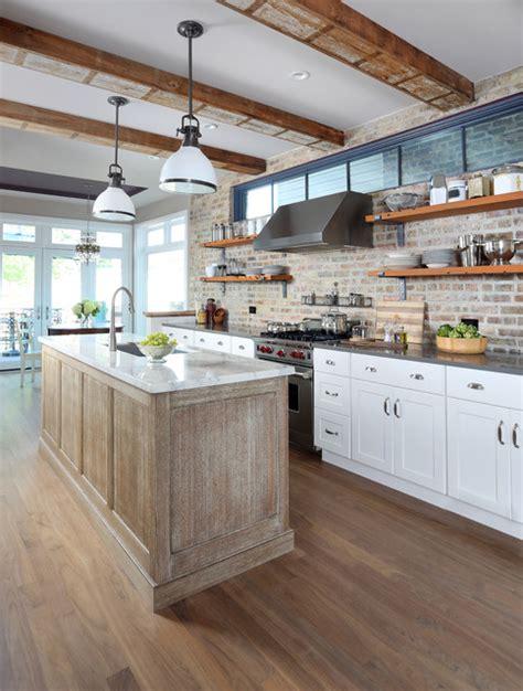 exposed brick backsplash kitchen exposed brick kitchen backsplash inspires eclectic
