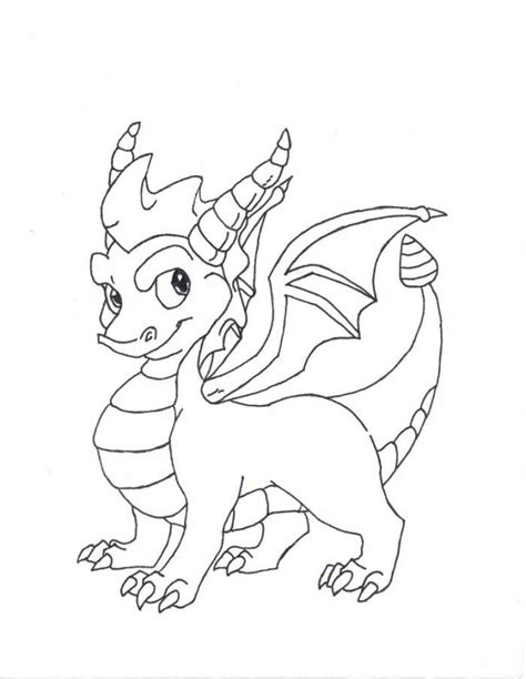 spyro coloring pages coloring home