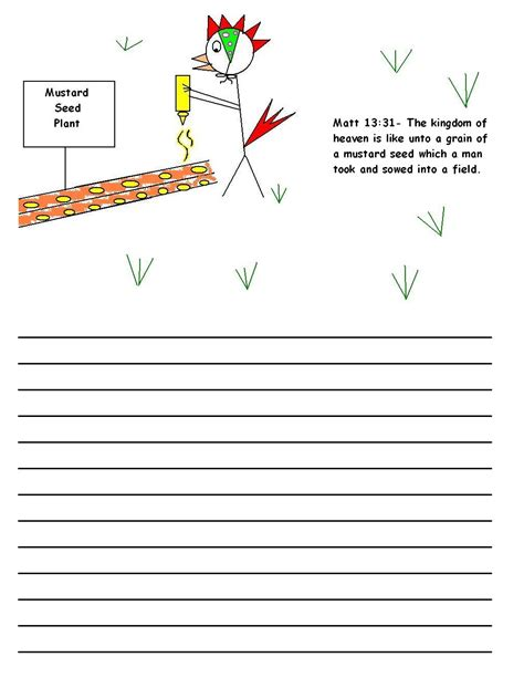 Write An Essay Somehow Inspired By Mustard by The Parable Of The Mustard Seed Sunday School Lesson