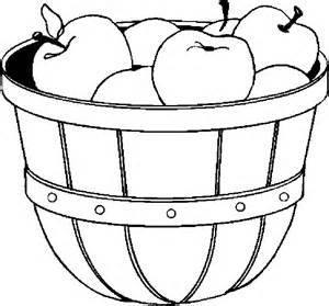 apple basket coloring page sketch coloring page