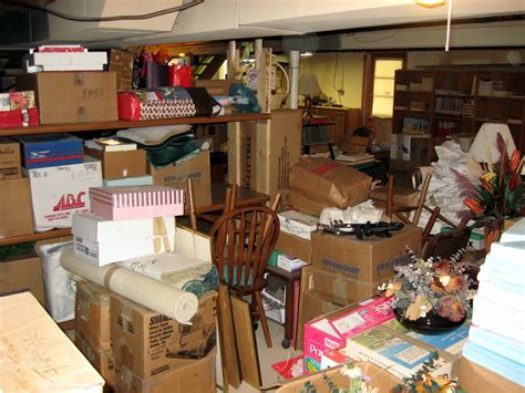 cleaning your basement storage