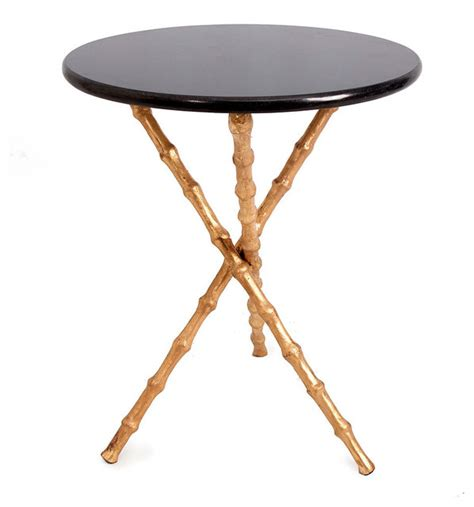 bamboo accent table bliss home design bamboo tripod table brass legs side