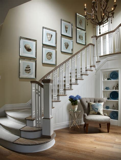 staircase decor coastal living davis island interior design beach