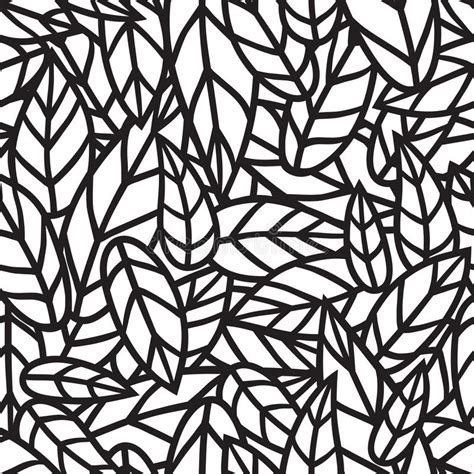 nature pattern black and white black and white leaf nature seamless vector pattern stock