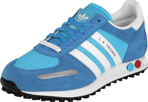 adidas sneaker trainers adidas la trainer shoes turquoise blue white