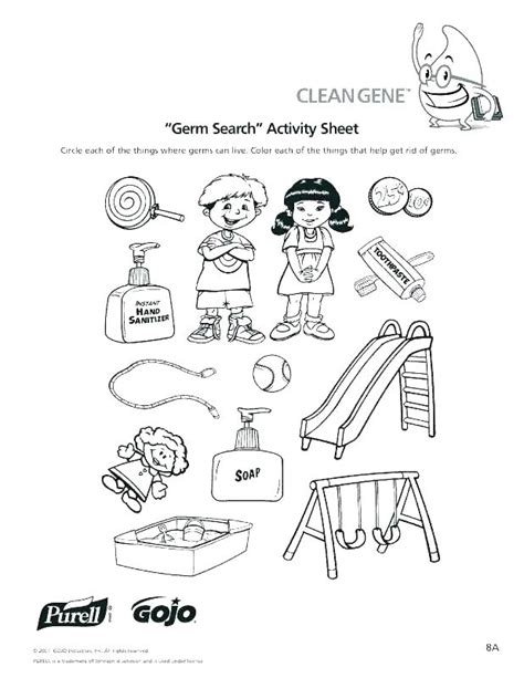 Hygiene Coloring Worksheets