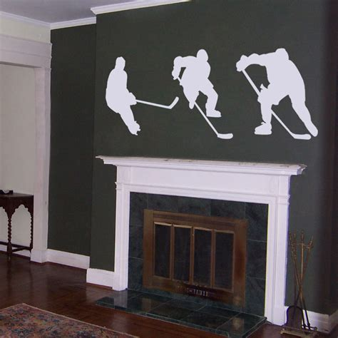 hockey wall stickers hockey players wall decal sticker graphic