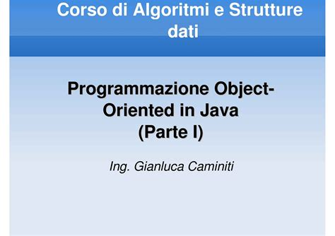 dispense java java programmazione object oriented dispense