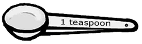 teaspoon clipart