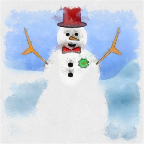snowman painting  stock photo public domain pictures