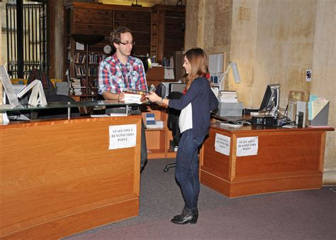Library Reserve Desk by Vacation Loans Due Back On Monday Bodleian History Faculty Library At Oxford