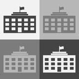 Office And Business Vector Icons Set On Gray Royalty Free Stock Images Image 33973149 School Building Vector Icons Set On Gray Stock Vector Illustration Of Exterior Illustration