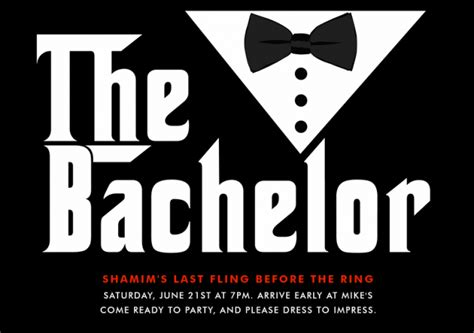bachelor invitation cards templates invitation templates bachelor invites