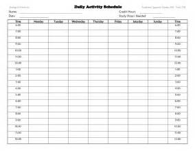 daily activity schedule template daily activity schedule chart pictures to pin on
